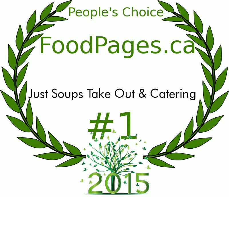 Just Soups Take Out & Catering FoodPages.ca 2015 Award Winner